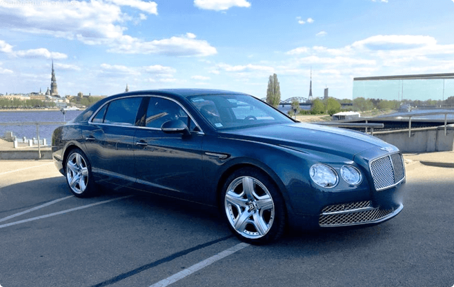 Riga Luxury Sedans - Bentley Flying Spur - Front View