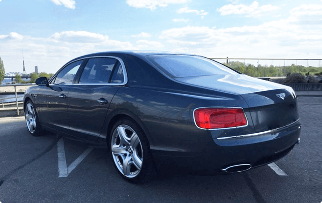 Riga Luxury Sedans - Bentley Flying Spur - Back View